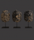English 'Green Man' Sandstone Architectural Heads