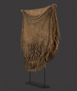 New Zealand Maori Flax Fishing Bag, 'Kete Muka'