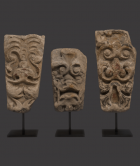 English 'Green Man' Limestone Architectural Heads