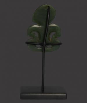 New Zealand Maori Nephrite Amulet, 'Hei Tiki'