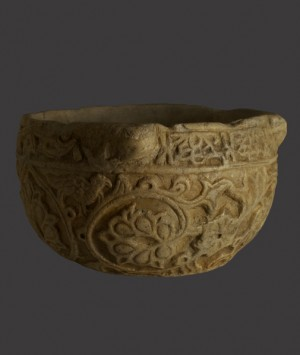 Mediterranean Byzantine Empire Marble Basin or Mortar
