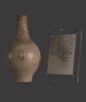 Stoneware 'Witch-Bottle'