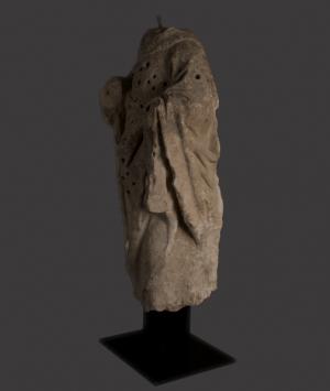 French Limestone Statue of a Saint